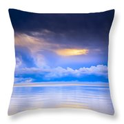 Storm Clouds And Lake Winnipeg At Throw Pillow