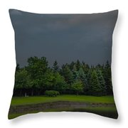 Storm Clouds And Trees Throw Pillow