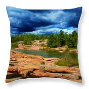 Storm Clouds Approaching Chikanashing Throw Pillow