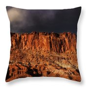 Storm Clouds Capitol Reef National Park Utah Throw Pillow