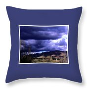 Storm Clouds In The Desert Throw Pillow