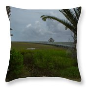 Storm Clouds Near Port Lavaca Throw Pillow