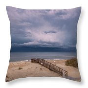 Storm Clouds On The Outer Banks Throw Pillow