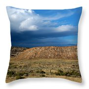 Storm Clouds Over Central Wyoming Throw Pillow