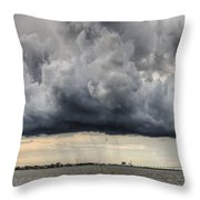 Storm Clouds Over Charleston South Carolina Throw Pillow