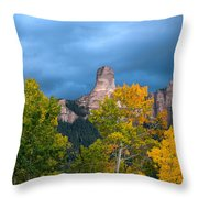 Storm Clouds Over Chimney Rock Throw Pillow