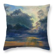 Storm Clouds Over P-town Throw Pillow