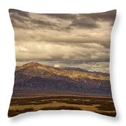 Storm Clouds Over Snowy Peaks #2 Throw Pillow