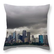 Storm Clouds Over Sydney Throw Pillow