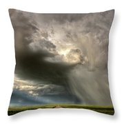 Storm Clouds Prairie Sky Saskatchewan Throw Pillow