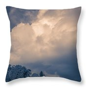 Storm Coming To The Old Farm Throw Pillow