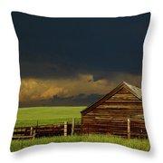 Storm Crossing Prairie 2 Throw Pillow