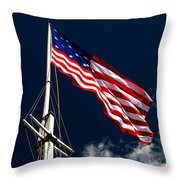 Storm Flag At Fort Mchenry Throw Pillow