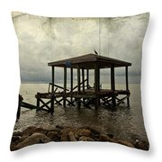 Storm In The Distance Throw Pillow