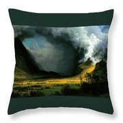 Storm In The Mountains Throw Pillow