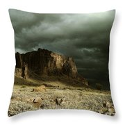 Storm In The Superstitions Throw Pillow