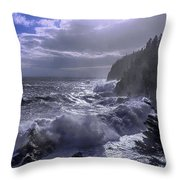 Storm Lifting At Gulliver's Hole Throw Pillow