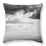 Storm Light On The Desert Throw Pillow
