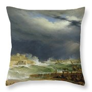 Storm Malta Throw Pillow