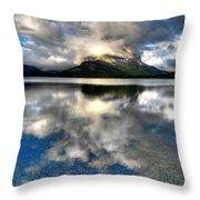 Storm Mountain Throw Pillow