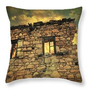 Storm Of Time Throw Pillow