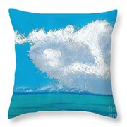 Storm Off The Beach Throw Pillow
