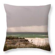Storm Offshore At Destin Florida Throw Pillow