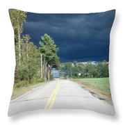 Storm On It's Way Throw Pillow