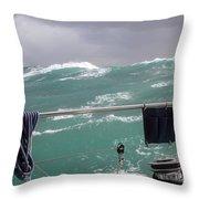 Storm On Tasman Sea Throw Pillow