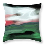 Storm On The American Landscape Throw Pillow