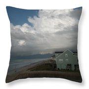 Storm On The Horizon Throw Pillow