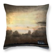 Storm On The Water Throw Pillow