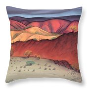 Storm Outback Australia Throw Pillow by Judith Chantler