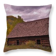 Storm Over Ashcroft Throw Pillow