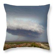 Storm Over Badlands 2am-115139 Throw Pillow