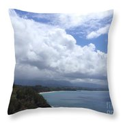 Storm Over Bali Hai Throw Pillow