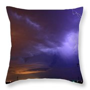 Storm Over Brush Throw Pillow