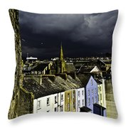 Storm Over Conwy Throw Pillow