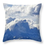 Storm Over Fitz Roy 1 Throw Pillow