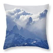 Storm Over Fitz Roy 2 Throw Pillow