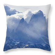Storm Over Fitz Roy 3 Throw Pillow