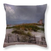 Storm Over Gulf Shores  Throw Pillow