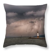 Storm Over Myers Point Throw Pillow