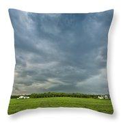 Storm Over Nursery Throw Pillow