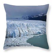 Storm Over Perito Moreno Throw Pillow