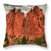 Storm Over Red Rocks Throw Pillow