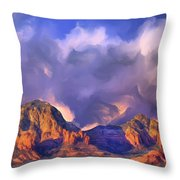 Storm Over Sedona Throw Pillow