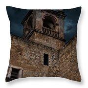 Storm Over The Alcazaba - Antequera Spain Throw Pillow
