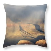 Storm Over The Grand Canyon Throw Pillow