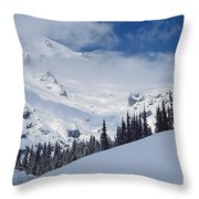 Storm Over The Summit Throw Pillow